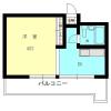 在目黒区内租赁1DK 公寓 的 楼层布局