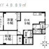 2DK Apartment to Rent in Edogawa-ku Floorplan