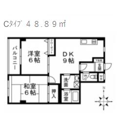2DK Mansion in Nishikoiwa - Edogawa-ku Floorplan
