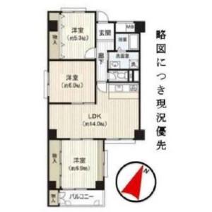 3LDK {building type} in Itachibori - Osaka-shi Nishi-ku Floorplan