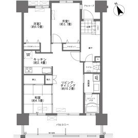 3LDK {building type} in Samashita - Ginowan-shi Floorplan