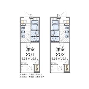 葛饰区柴又-1K公寓大厦 楼层布局
