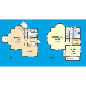 2LDK House in Terakubo - Yokohama-shi Naka-ku Floorplan