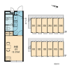 1K Apartment to Rent in Higashimurayama-shi Layout Drawing