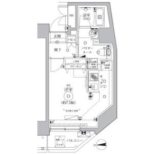 1R Mansion in Matsugaya - Taito-ku Floorplan