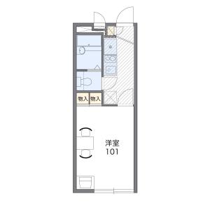1K Mansion in Akitsucho - Higashimurayama-shi Floorplan