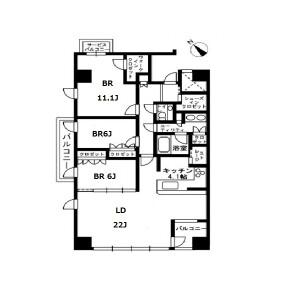 3LDK Apartment in Sarugakucho - Shibuya-ku Floorplan