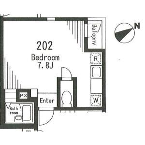 1R Apartment in Higashimukojima - Sumida-ku Floorplan