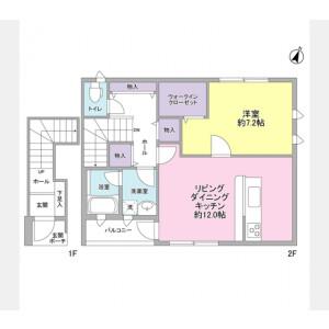 1LDK Apartment in Kamiyoga - Setagaya-ku Floorplan
