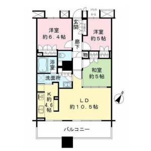 3LDK {building type} in Ariake - Koto-ku Floorplan