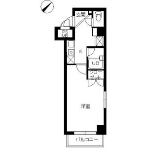1K Mansion in Nihombashihoridomecho - Chuo-ku Floorplan
