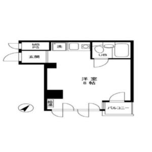 1R {building type} in Nihombashikoamicho - Chuo-ku Floorplan