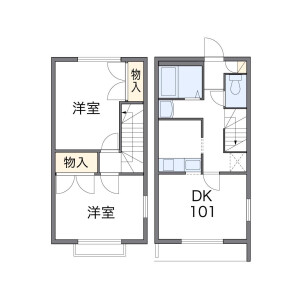 2DK Apartment in Shimmei - Hino-shi Floorplan