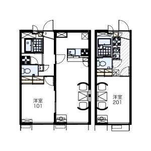 1K Mansion in Kajigaya - Kawasaki-shi Takatsu-ku Floorplan