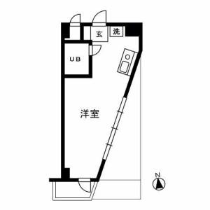 1R Mansion in Omorinaka - Ota-ku Floorplan