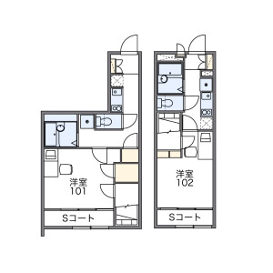1K Apartment in Honisshiki - Edogawa-ku Floorplan