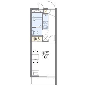 1K Apartment in Ida nakanocho - Kawasaki-shi Nakahara-ku Floorplan