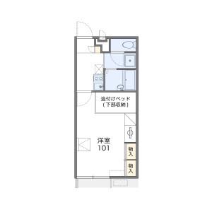 1K Apartment in Tajii - Sakai-shi Mihara-ku Floorplan