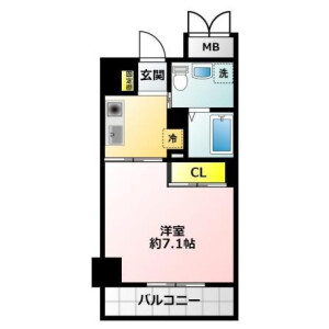 1K {building type} in Tanaka - Osaka-shi Minato-ku Floorplan