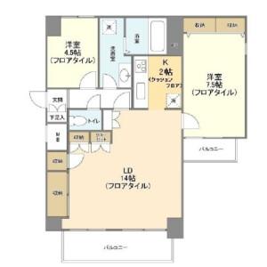 埼玉市浦和區元町-2LDK公寓大廈 房間格局