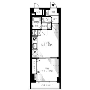 1LDK {building type} in Ookayama - Meguro-ku Floorplan