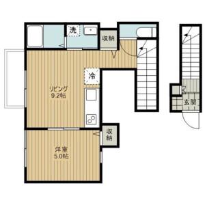 1LDK Apartment in Miyacho - Saitama-shi Omiya-ku Floorplan