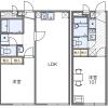 1LDK Apartment to Rent in Adachi-ku Floorplan
