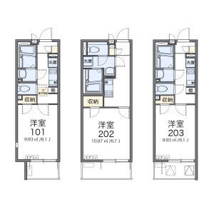 1K Mansion in Sakura - Setagaya-ku Floorplan