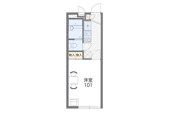 1K Apartment to Rent in Yokohama-shi Tsuzuki-ku Floorplan