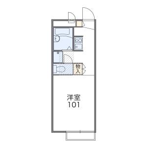 1K Apartment in Shibasaki - Chofu-shi Floorplan