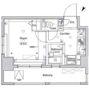 1K Apartment in Shibaura(1-chome) - Minato-ku Floorplan