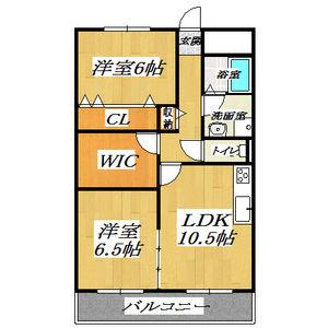 2LDK Mansion in Fukumanjicho minami - Yao-shi Floorplan