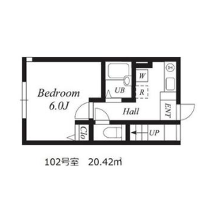 1K Mansion in Jiyugaoka - Meguro-ku Floorplan