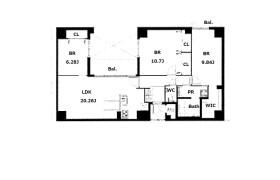 大阪市中央區材木町-3LDK公寓