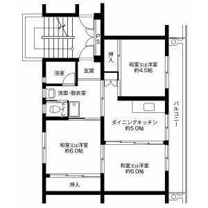 3DK Mansion in Iigura - Sosa-shi Floorplan