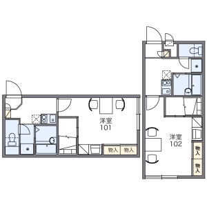 1K Apartment in Kashima - Osaka-shi Yodogawa-ku Floorplan