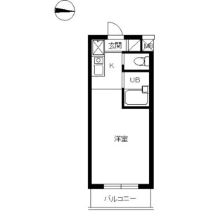 1R Mansion in Ikejiri - Setagaya-ku Floorplan