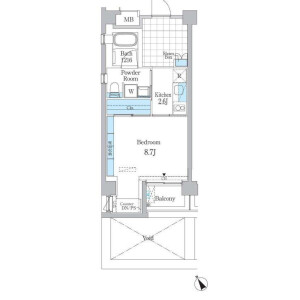 1K Mansion in Jingumae - Shibuya-ku Floorplan
