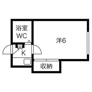 名古屋市南區中江-1K公寓 房間格局