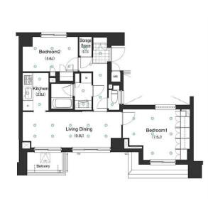 港區白金-2LDK公寓大廈 房間格局