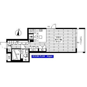 1R Apartment in Nakane - Meguro-ku Floorplan
