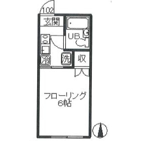 1K Apartment in Kugayama - Suginami-ku Floorplan