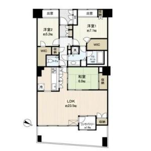 3SLDK Mansion in Yoshihamacho - Yokohama-shi Naka-ku Floorplan