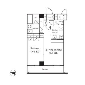 1LDK Apartment in Nishihara - Shibuya-ku Floorplan