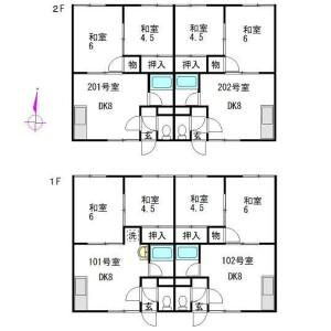 Whole Building {building type} in Kawazoe 13-jo - Sapporo-shi Minami-ku Floorplan