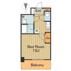 港區港南-1K公寓大廈 房間格局