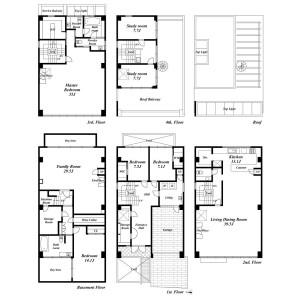 7LDK House in Sendagaya - Shibuya-ku Floorplan