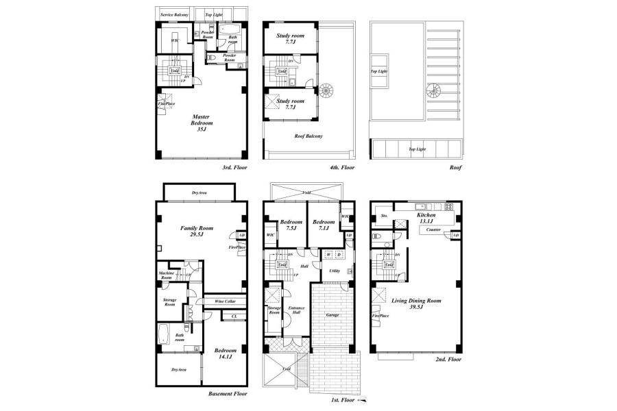 7LDK House to Buy in Shibuya-ku Floorplan