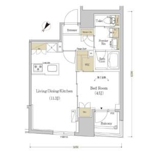 1LDK Mansion in Nihombashikakigaracho - Chuo-ku Floorplan