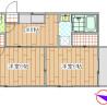 2DK Apartment to Rent in Ota-ku Floorplan
